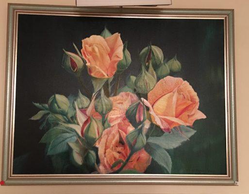 31-Golden Roses 40 X 30