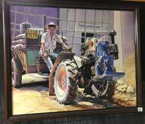 15-Chinese Worker and Tractor