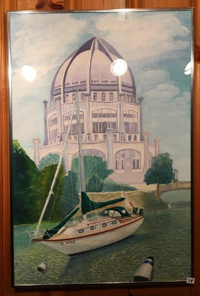 78-Baha'i Temple Sailboat